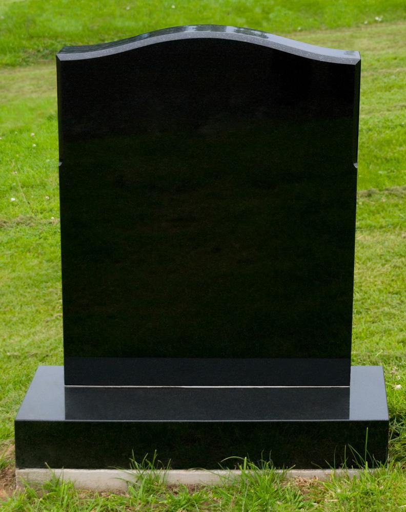 Black Granite Headstones : Headstones and monumental masonry family funeral service